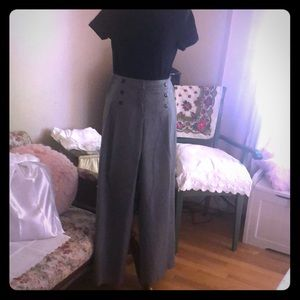 AB Studios - Retro, 6 button front, wide leg pant
